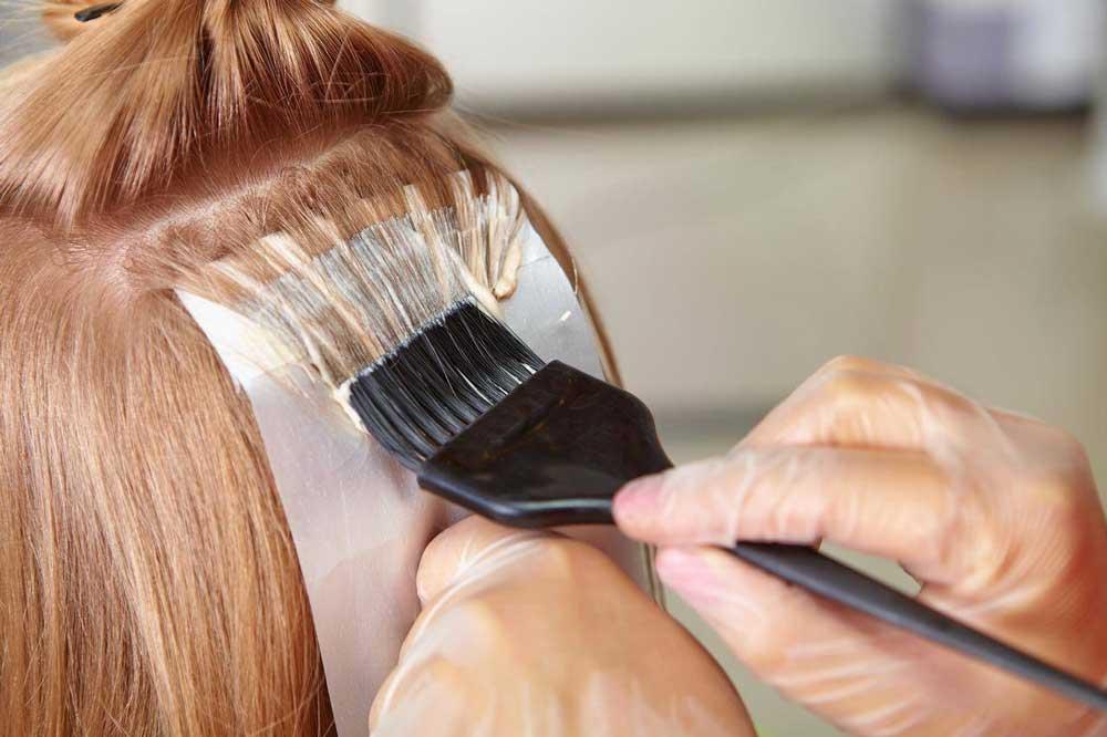 دکلره کردن موی تیره