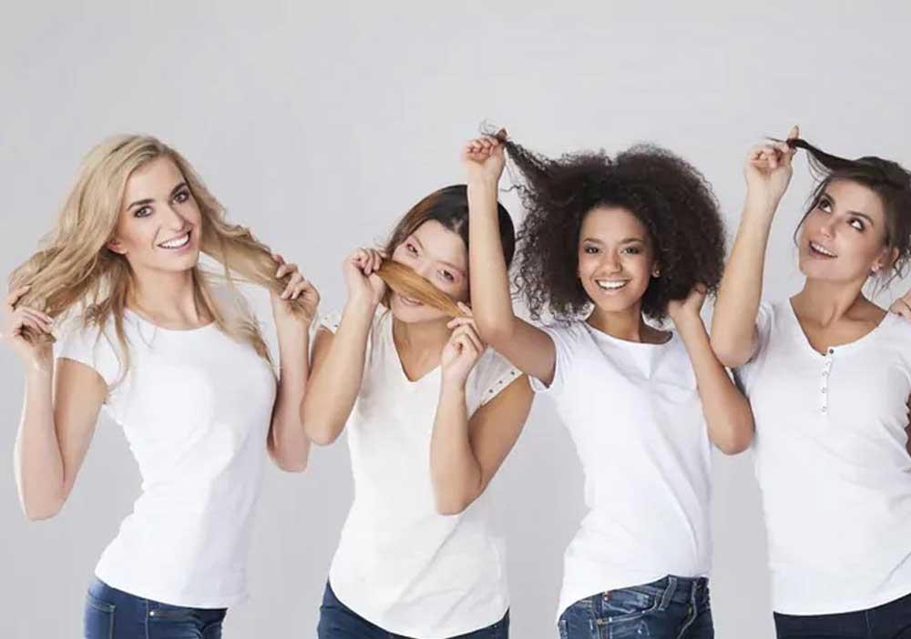 گوناگونی در شکل ظاهری موی طبیعی
