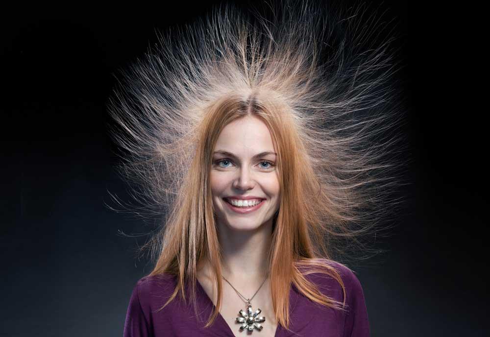 علت الکتریسیته مو