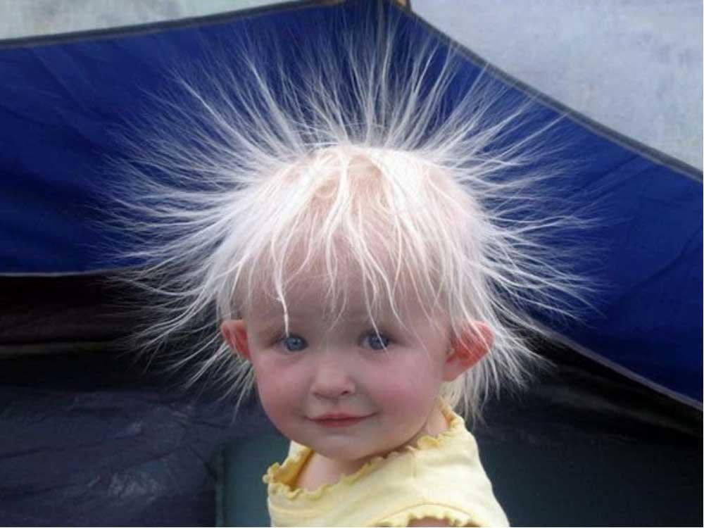 الکتریسیته موی کودک