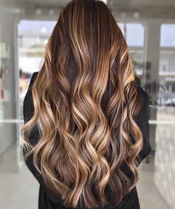 بالیاژ موی بلند