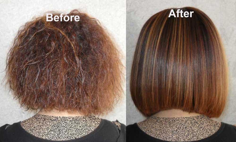 کراتینه کردن مو در منزل اززان