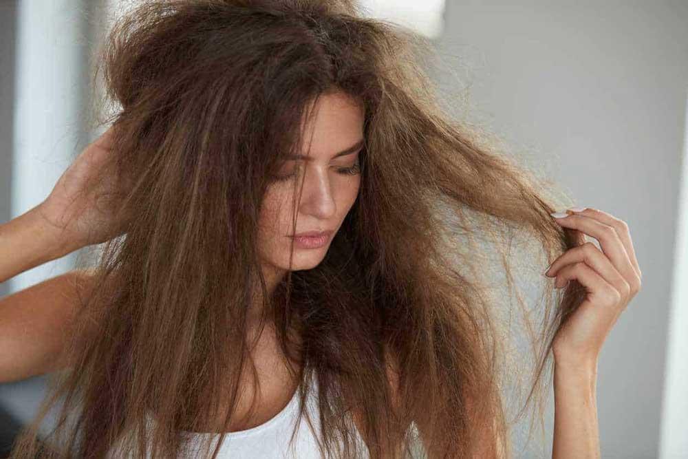 شستشوی موی خشک