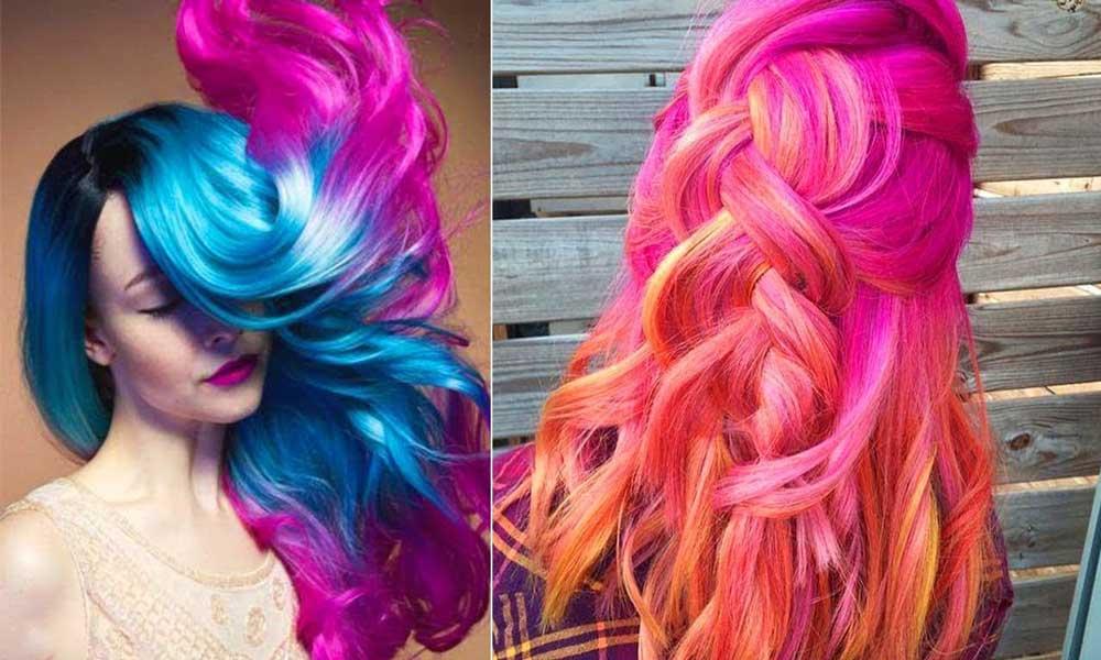 انتخاب رنگ موی فانتزی