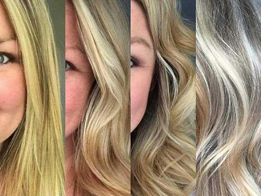 طریقه رنگساژ کردن مو