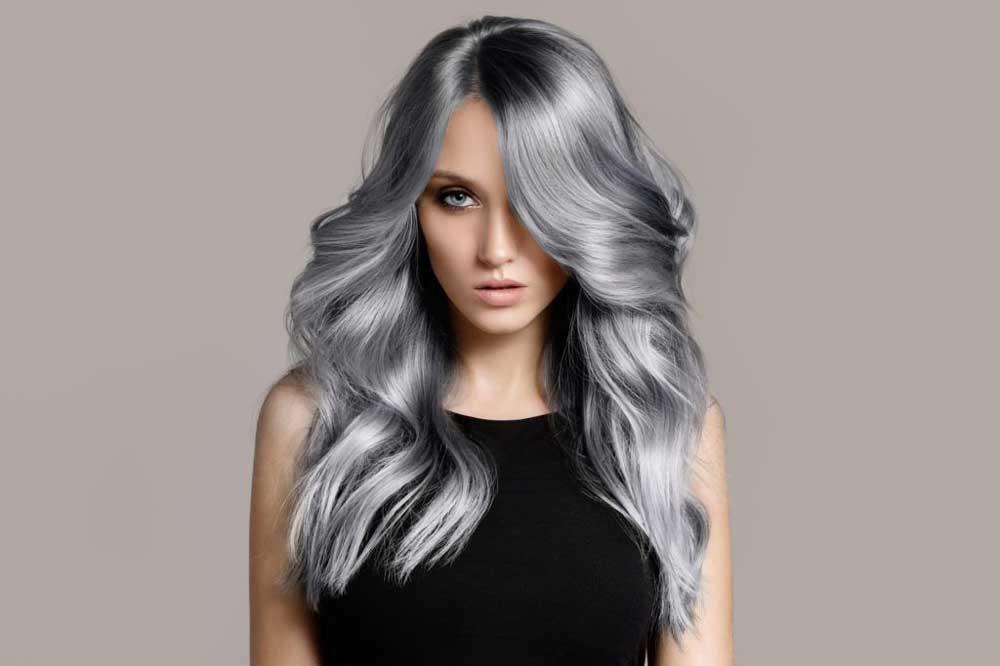 رنگ خاکستری بدون دکلره