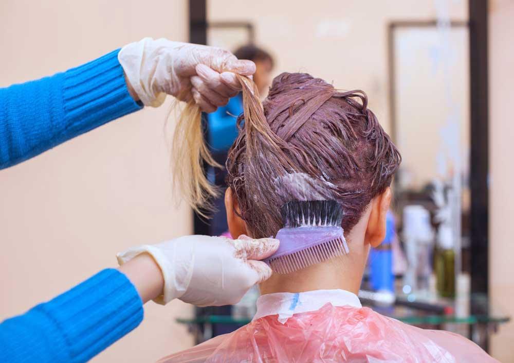 ترکیب مواد رنگ مو