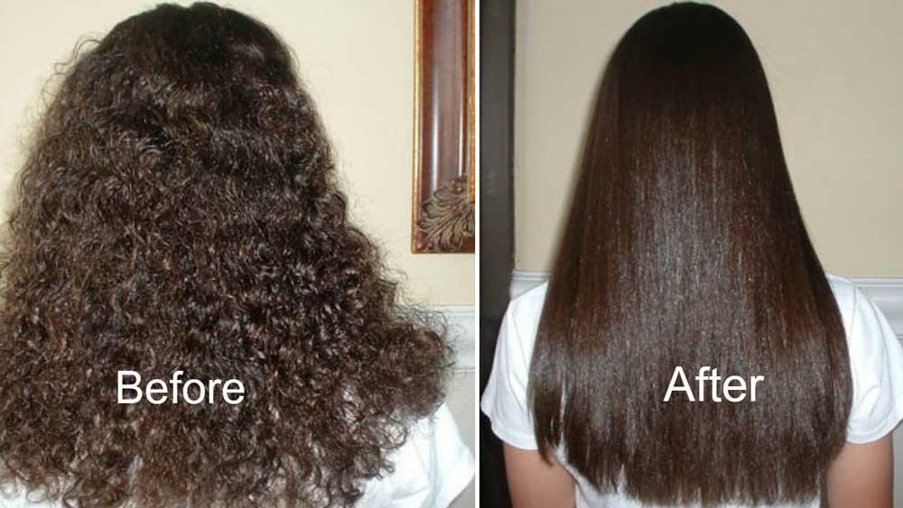 بهترین صاف کردن مو در خانه