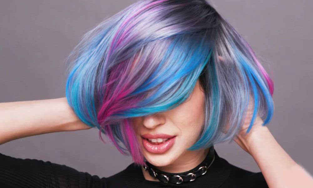 رنگهای فانتزی موی کوتاه