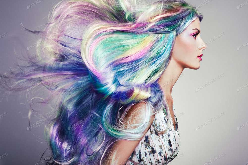 رنگ موی هولوگرافیک