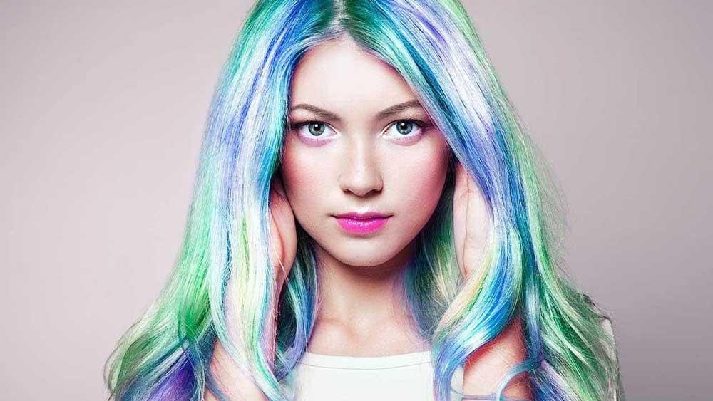 آموزش رنگ موی هولوگرافیک