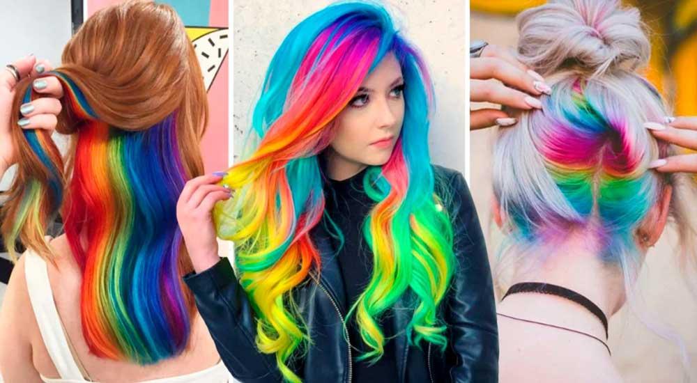 جدیدترین رنگ موی هولوگرافیک
