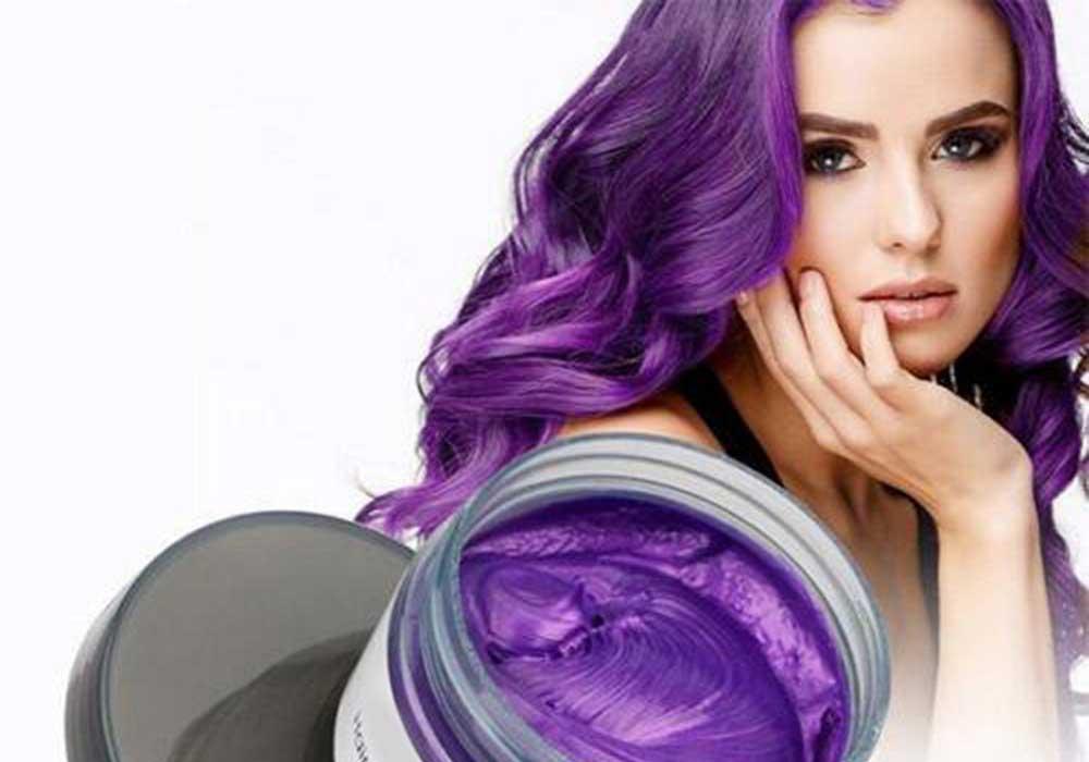 رنگ موی موقت بنفش