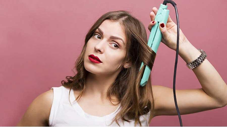 طرز صحیح اتو کشیدن مو