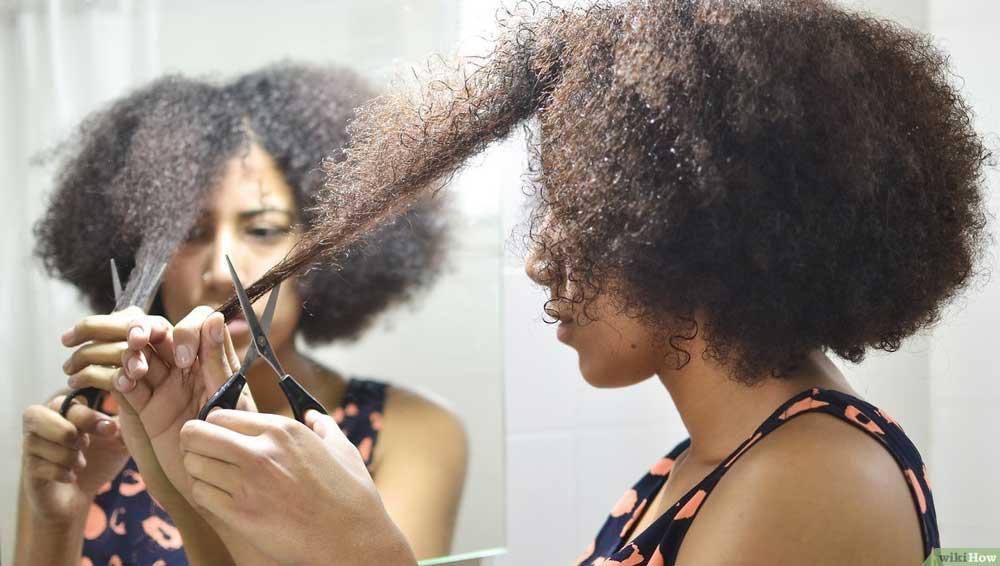 کوتاهی موی فر در منزل