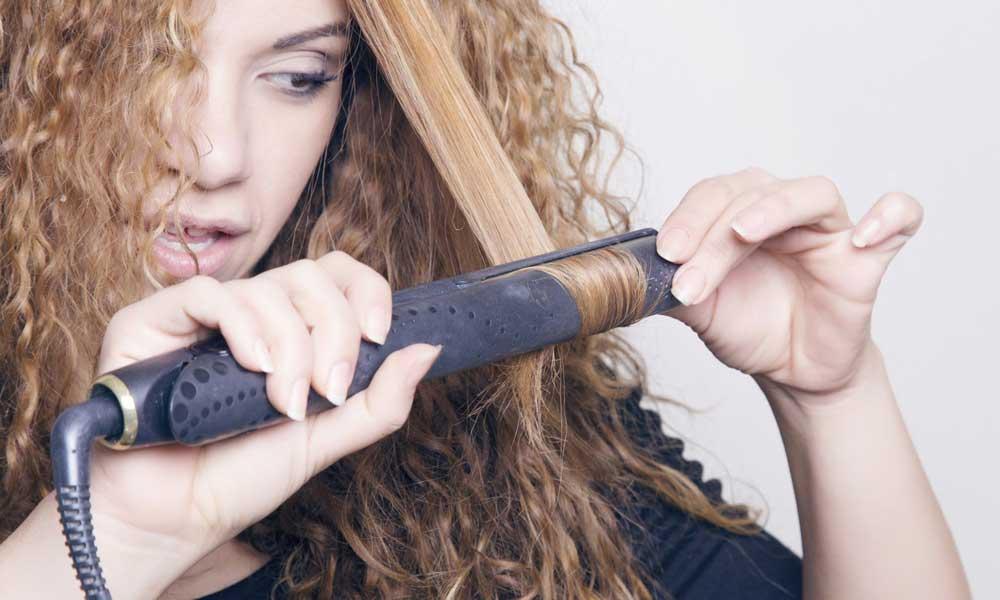 فر کردن موها با اتوی مو