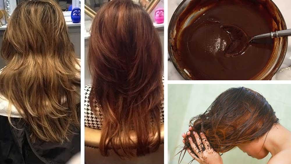 نحوه رنگ کردن مو با قهوه