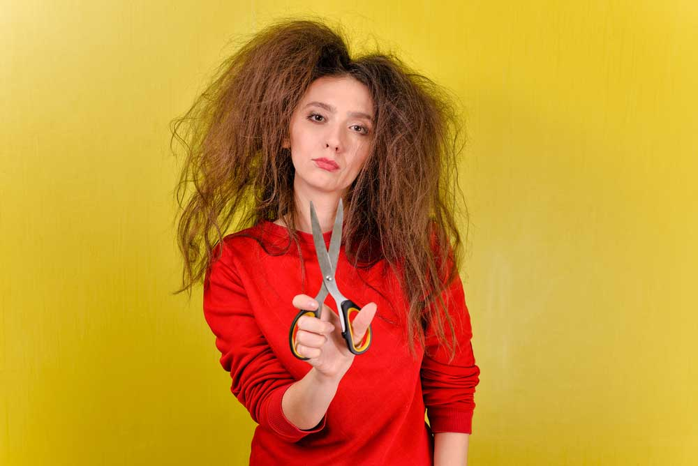 کنترل موهای وز شده