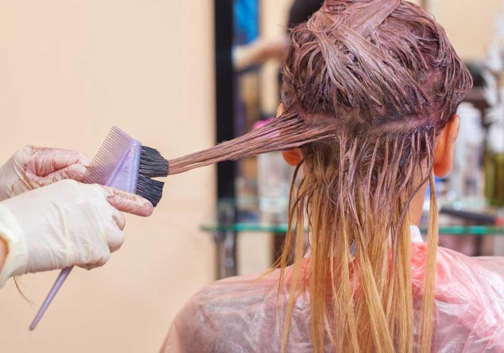 رنگ کردن موی سفید در خانه