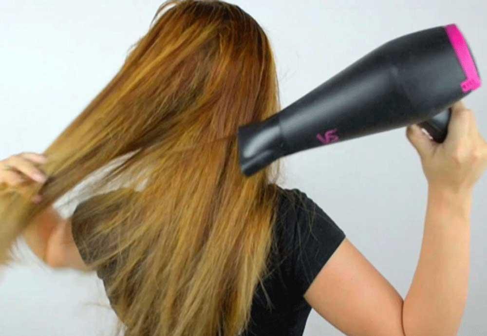راه های خشک کردن موها