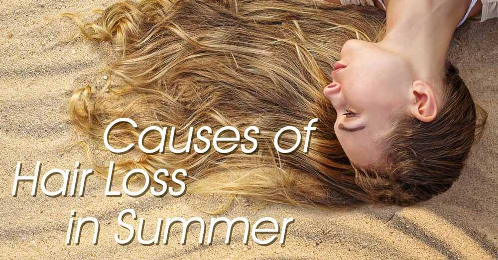 دلیل ریزش مو در تابستان