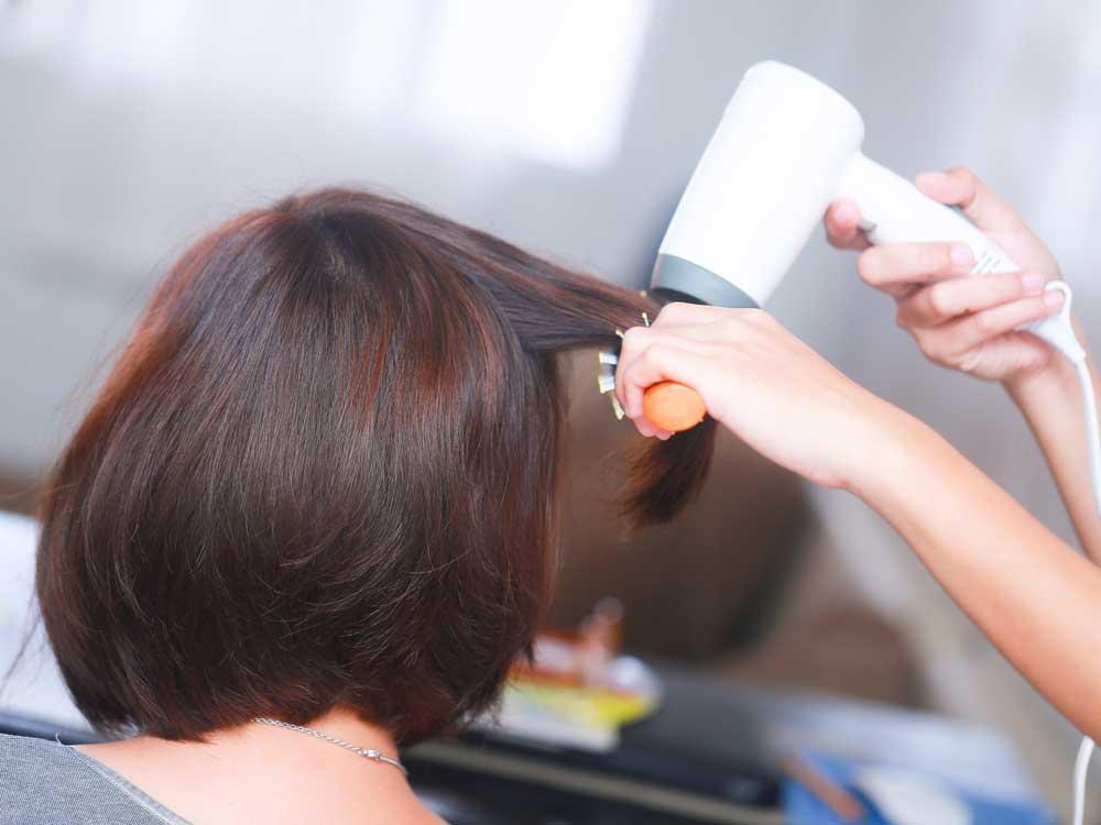 نحوه براشینگ موی کوتاه