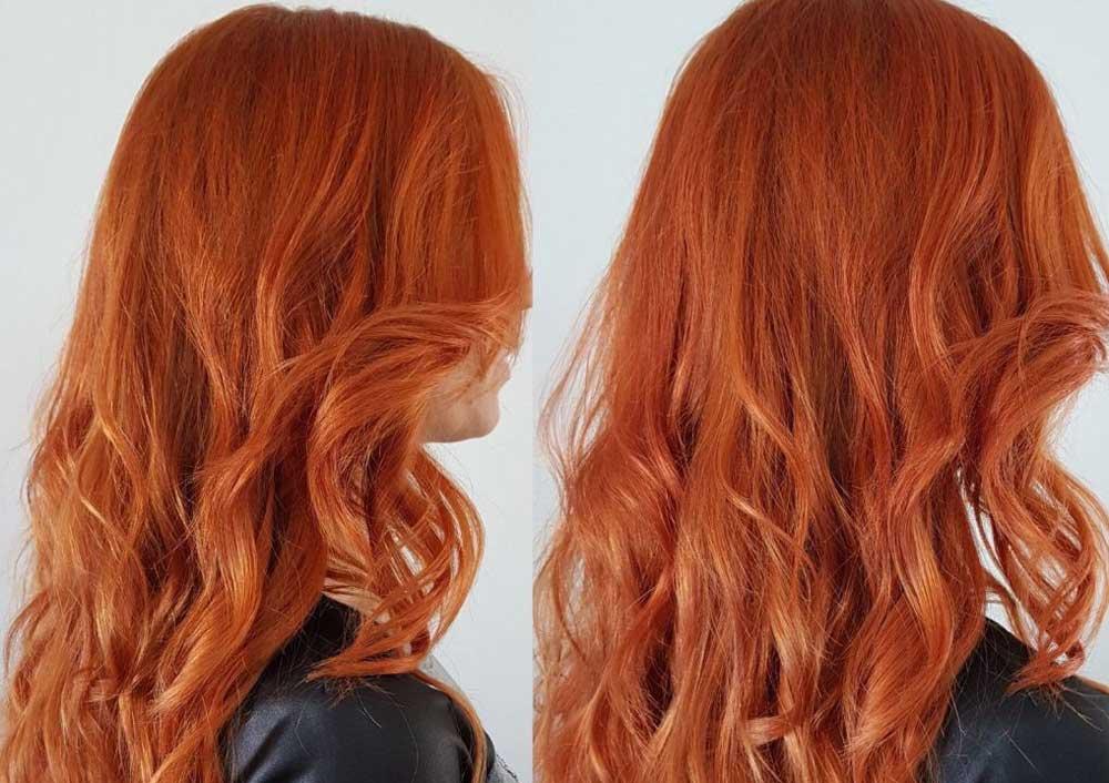 رنگ موی مسی قرمز