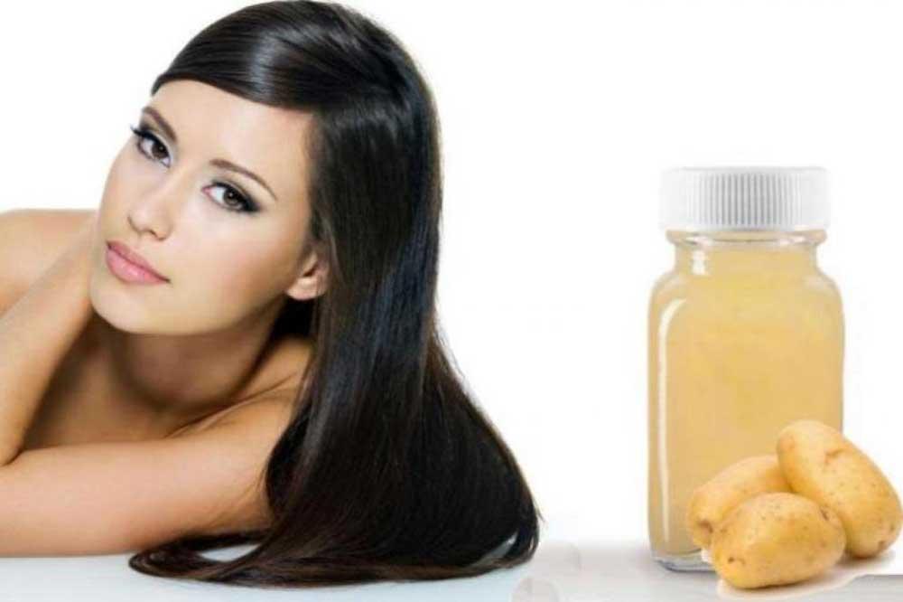 عصاره سیب زمینی خام برای مو
