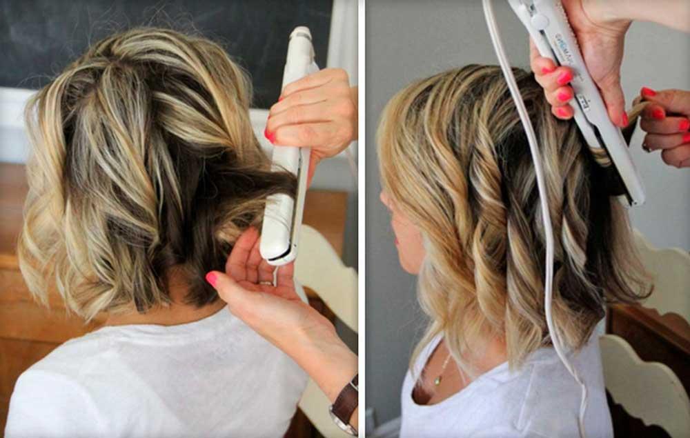 طریقه فر کردن موها با اتوی مو