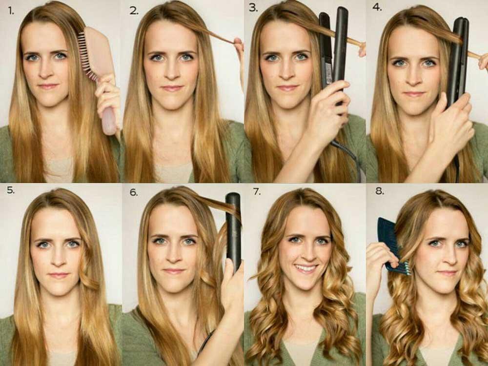 روش های فر کردن مو