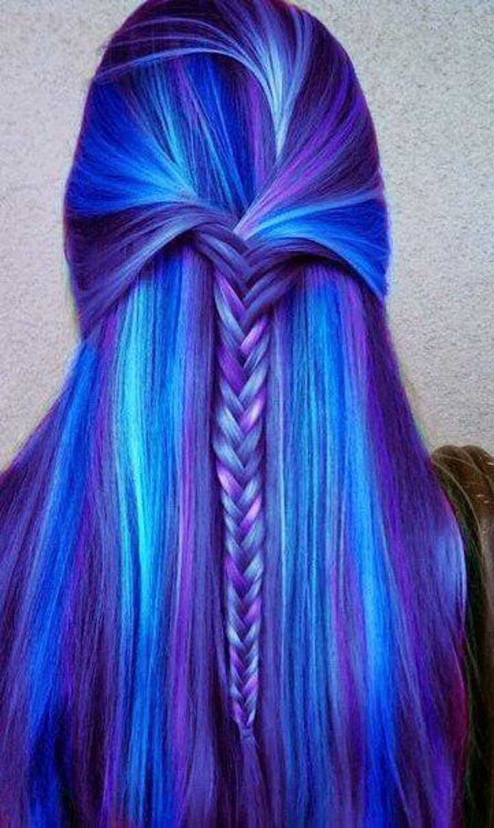 رنگ آبی برای موها