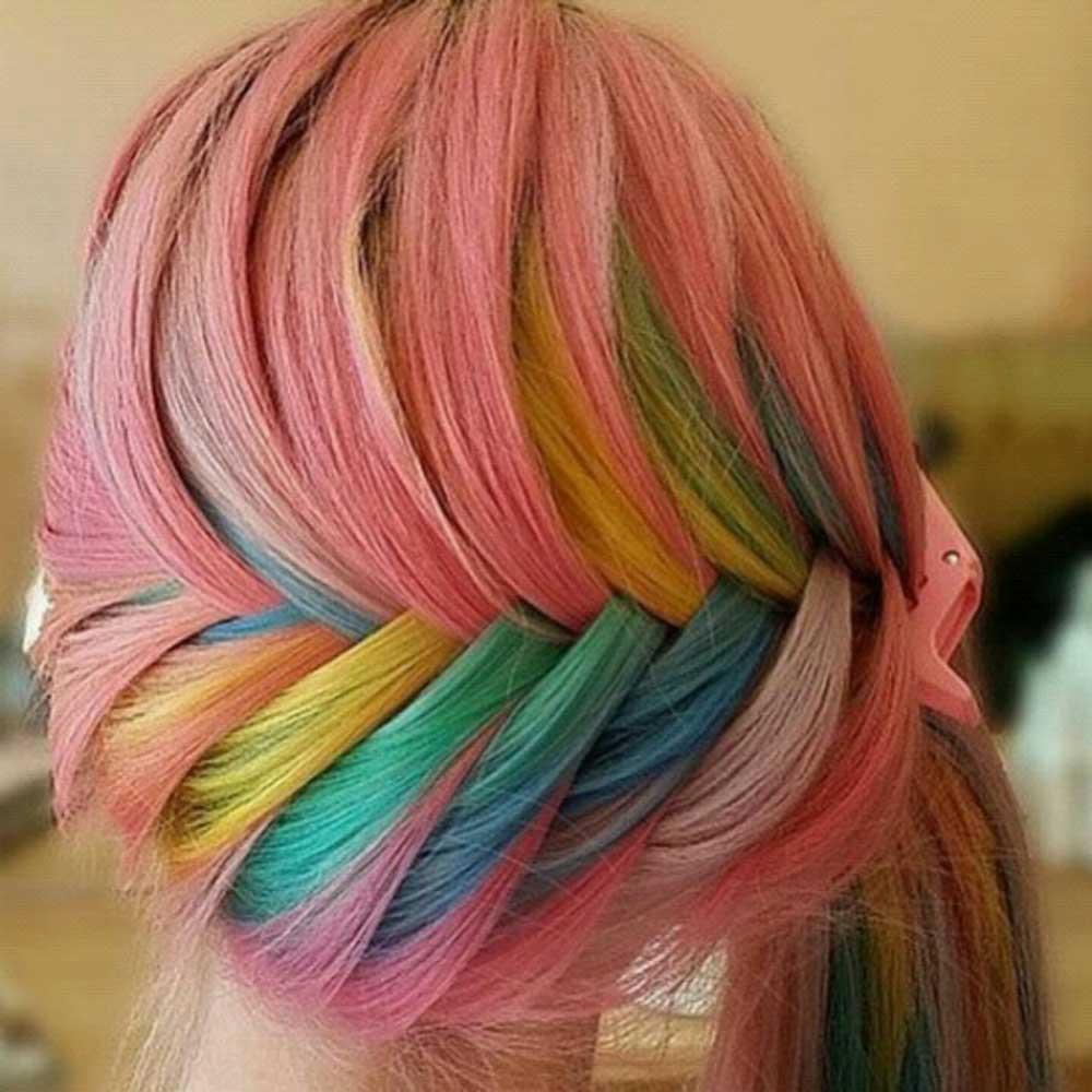 جدیدترین رنگ موی فانتزی