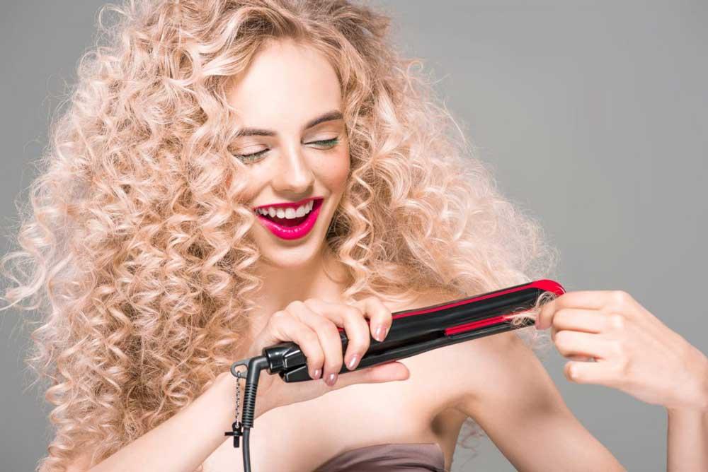 فر کردن مو در منزل