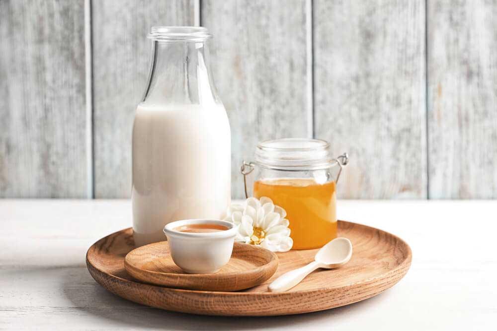 شیر و عسل درمان کم پشتی مو