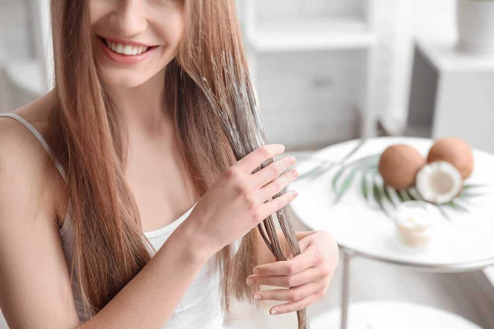 فواید رغن نارگیل برای مو صاف