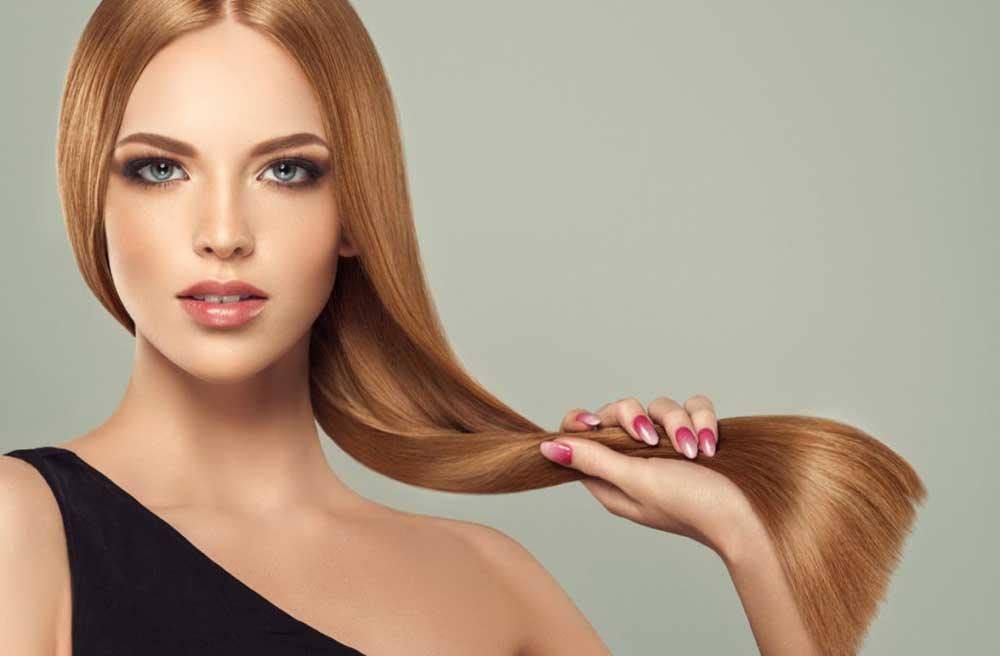 مراحل گراتینه موهای رنگ شده