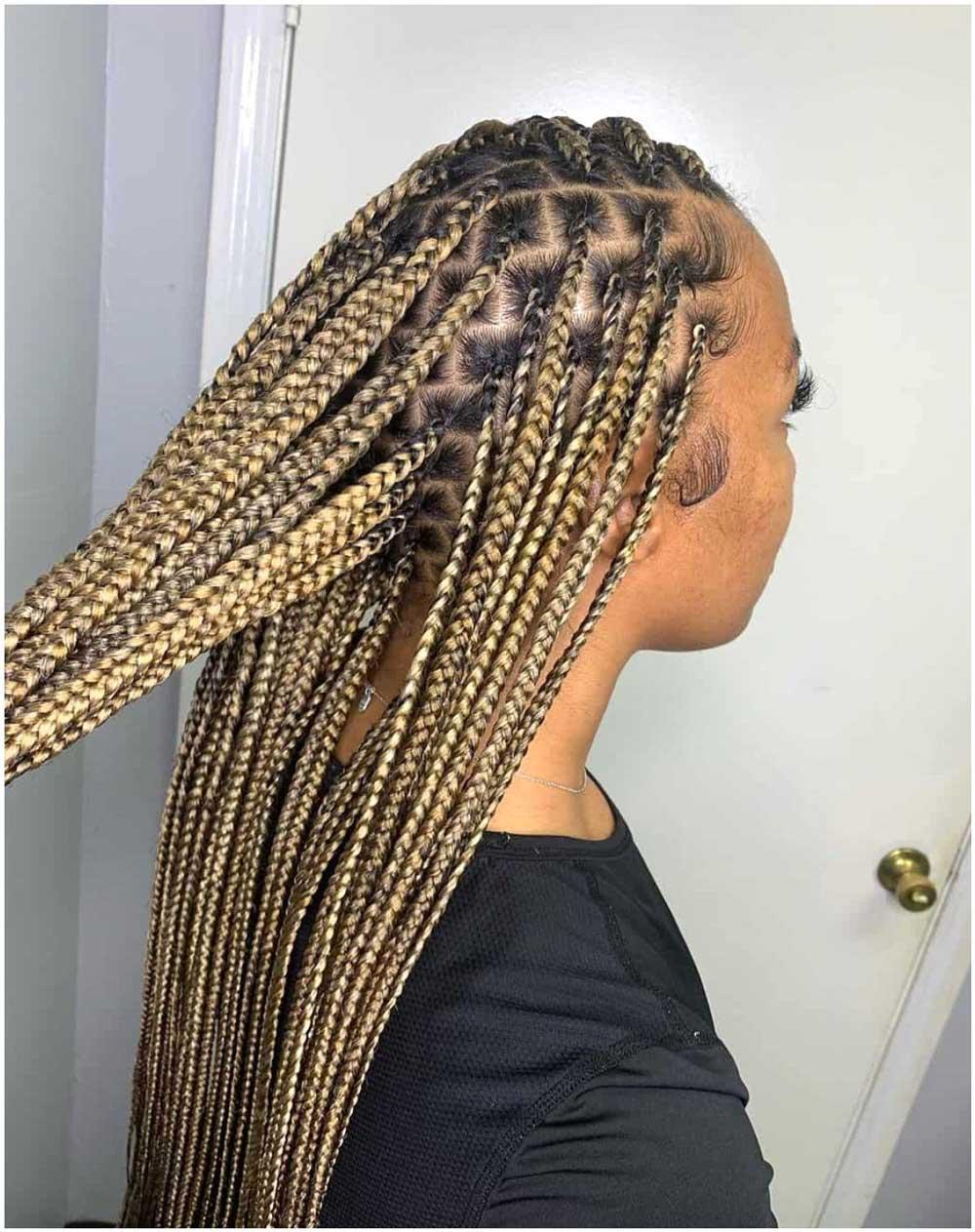 بافت ریز برای موهای بلند