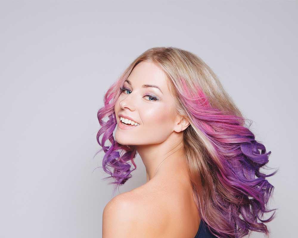 خلاقیت در رنگ کردن موها