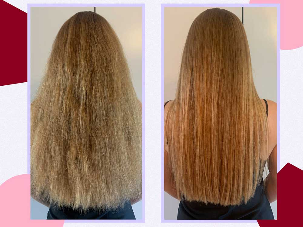 درمان موها با مواد کراتینه