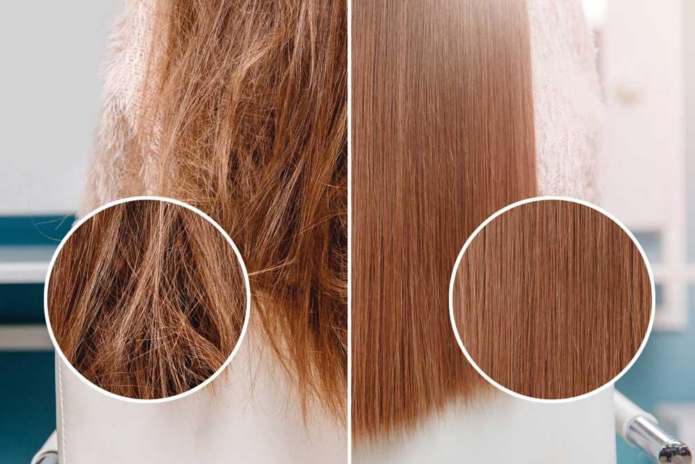 درمان موهای وز و آسیب دیده