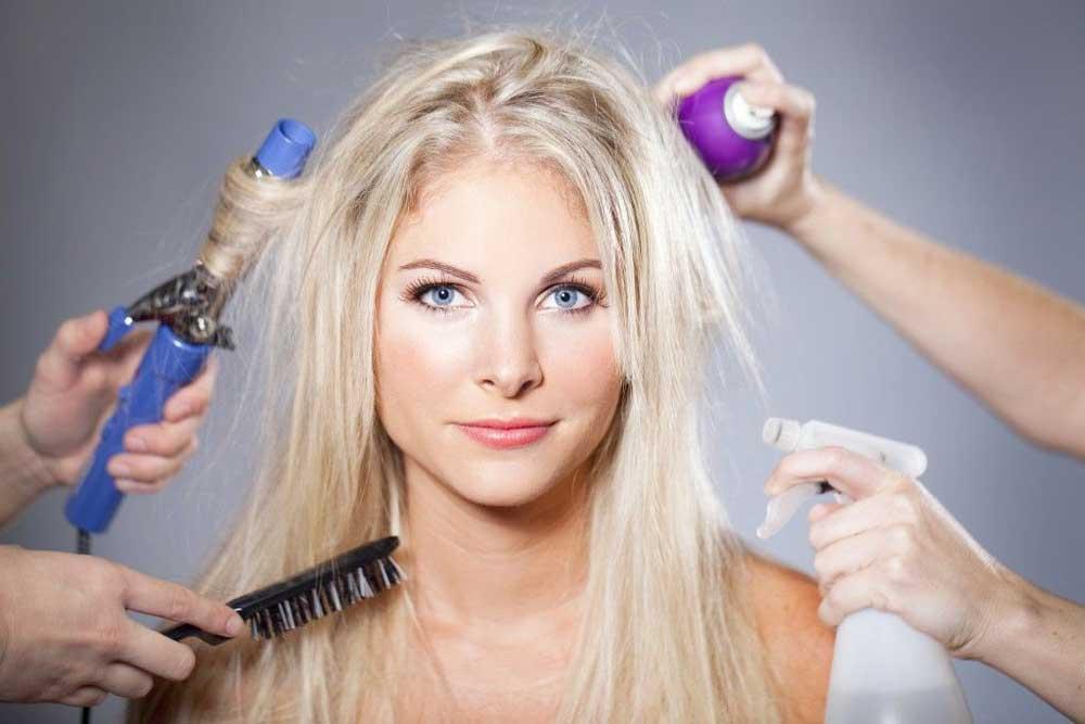 روشن کردن موها با آب اکسیژنه