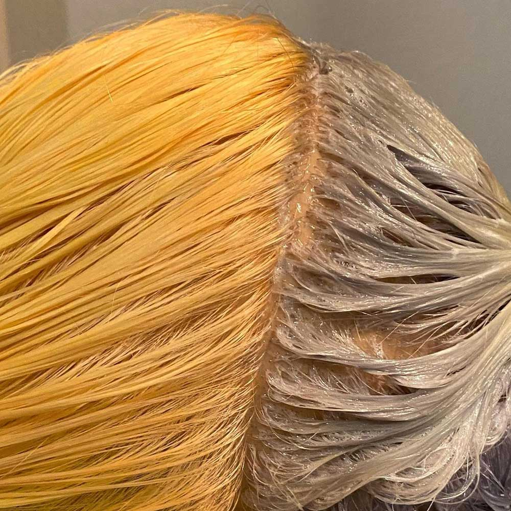 از بین بردن زردی مو