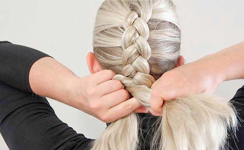 موهای خود را ببافید