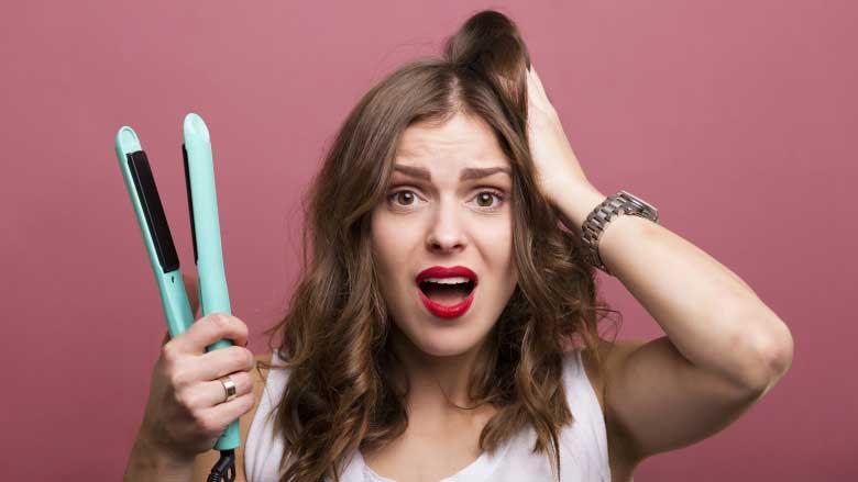 اشتباهات صاف کردن موی فر