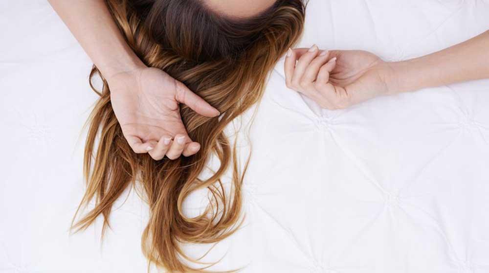 مراقبت از موی بلند در خواب