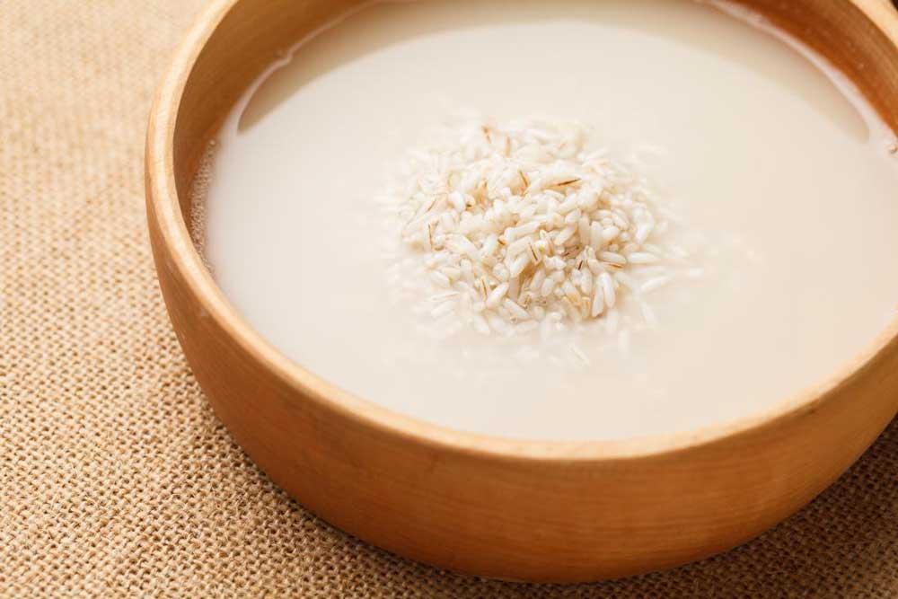 آب برنج برای مو و پوست سر